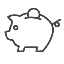 National FASD icon piggy bank