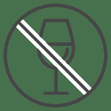National FASD icon wine glass NO