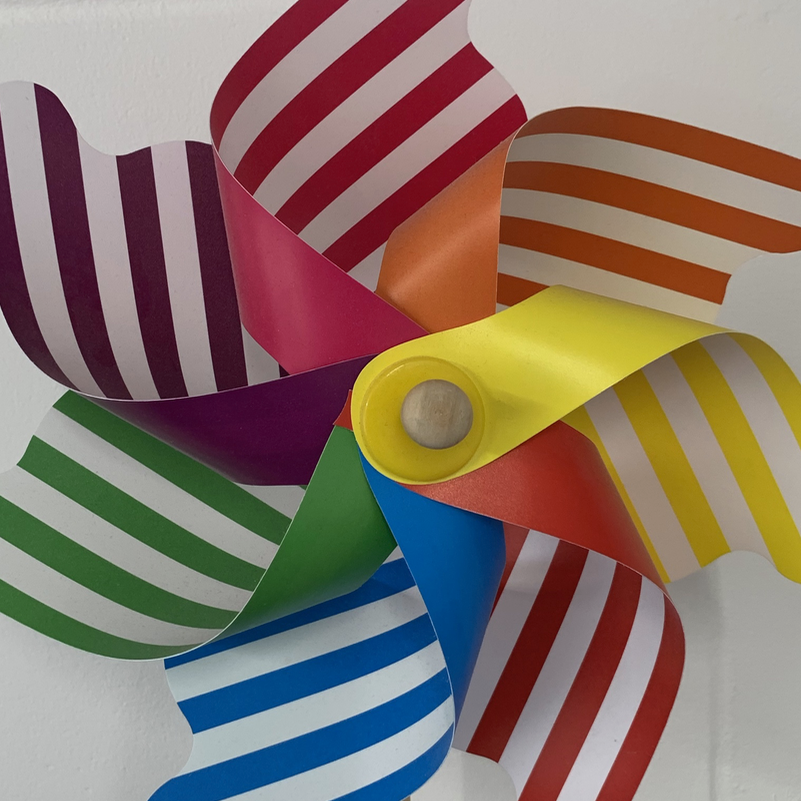A striped pinwheel