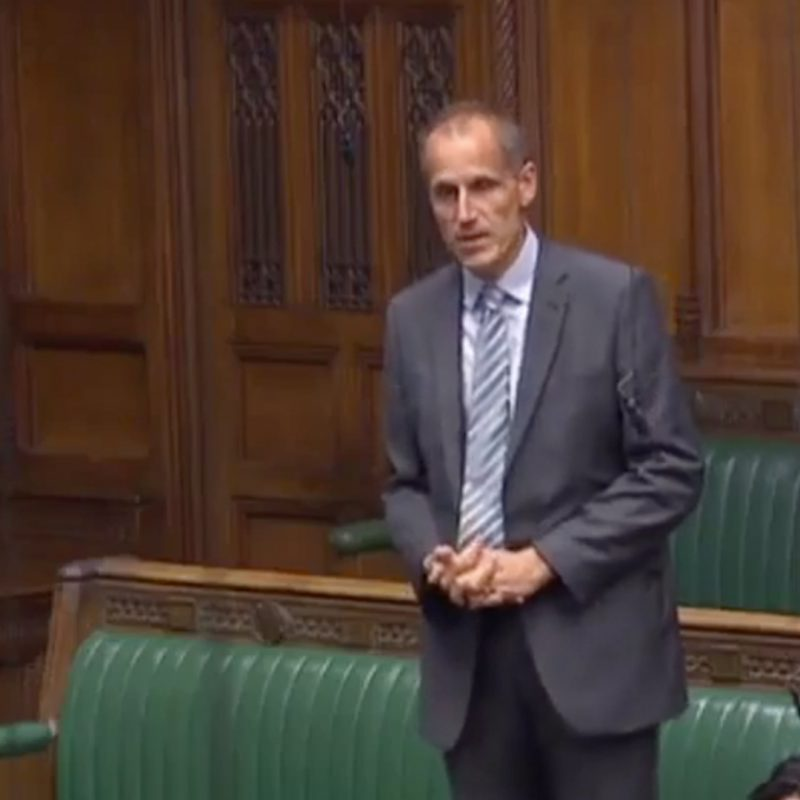 APPG MP standing up