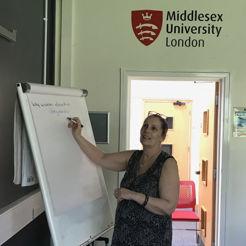 A birth mother explains FASD to student midwives